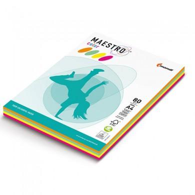 Цветна копирна хартия Maestro 5x20 пастелни